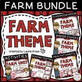 Farm Bundle - Decor, Binder Covers, Activities, Healthy Habits & Reading Posters