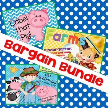 Farm Bundle: Literacy and Math Activities