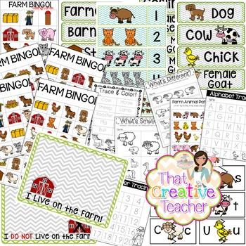 Farm Bundle - Preschool & Kindergarten Resources - Print & Go!