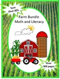 Farm Theme BUNDLE, Addition and Subtraction, Letter Matching Uppercase Lowercase