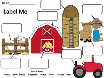 Farm Bundle with Literacy and Math Hands On Activities