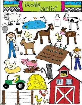 Farm COLOR Clipart Set