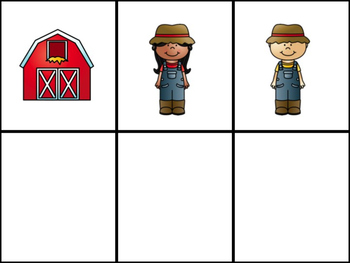 Farm CVC Pocket Chart Game