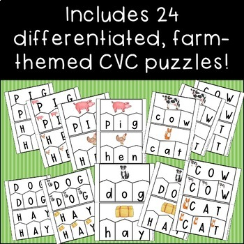 Farm CVC Puzzles