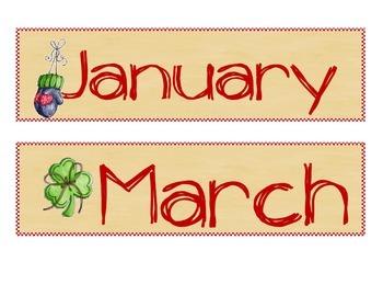 Farm Calendar Months