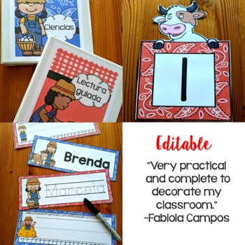 Farm Calendar Set  and Classroom Decorations {Spanish Version}