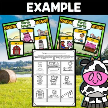 Farm Center ~ Nouns Vs. Verbs Sorting