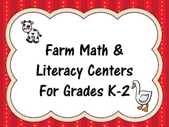 Farm Centers - Math and Literacy K-2