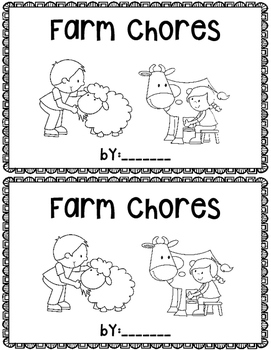 Farm Chores~ emergent reader