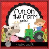 Farm Classroom Decor