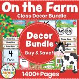 Farm Classroom Decor Bundle   Editable Templates   Back to School