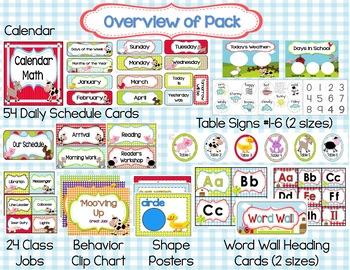 Farm Classroom Theme Decor Pack {Editable}