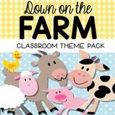 Farm Theme Classroom Decor Pack {Editable}