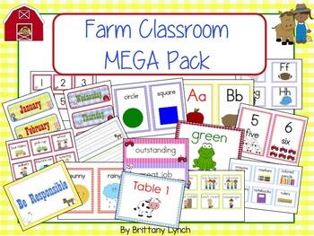 Farm Theme Classroom MEGA Bundle (editable)