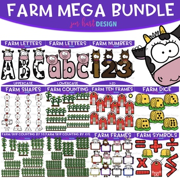 Farm Clip Art - Farm Barn Ten Frames {jen hart Clip Art}