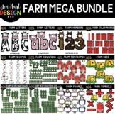 Farm Clip Art - Farm Mega Growing BUNDLE {jen hart Clip Art}