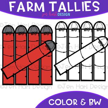 Farm Clip Art -Farm Silo Tally Marks {jen hart Clip Art}