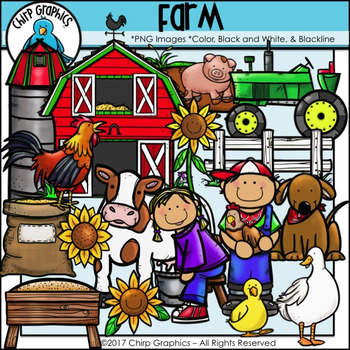 Farm Clip Art Set - Chirp Graphics
