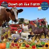 Farm Clip Art  Set Farm Animals & Plants Real Clips Photo & Artistic