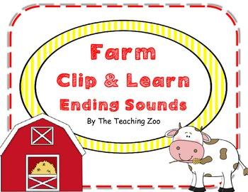 Farm Clip & Learn Final Ending Sounds