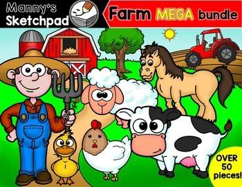 Farm Clip art MEGA bundle
