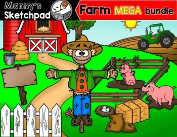 Farm Clip art MEGA bundle