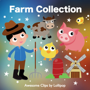 Farm Clipart {Awesome Clips by Lollipop}