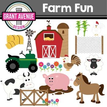 Farm Clipart - Barnyard Animals Clipart - Farm Animal Clipart