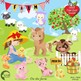 Farm Clipart, Farm Animal Clipart, (Best Teacher Tools} AMB-1494