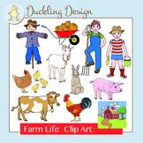 Farm Life Clip Art Set