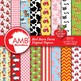 Farm Clipart and Digital Papers Combo Bundle, {Best Teacher Tools} AMB-1699