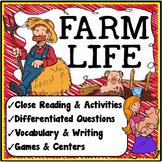 Farm Activities {Close Reading, Writing, Vocabulary & Games}