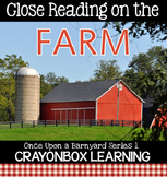 Farm Close Reading, Farm Non Fiction Passages, Writing, Interactive Notebook