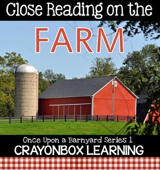 Farm Close Reading, Farm Non Fiction Passages, Writing, In