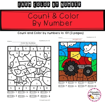 Farm Color By Number