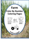 Color by Number Math, Color by Number Farm, Preschool Colo