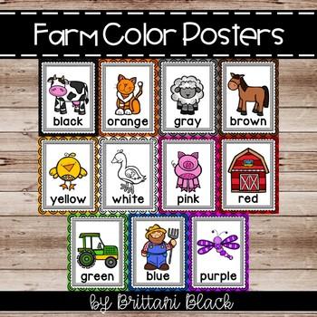 Farm Color Posters