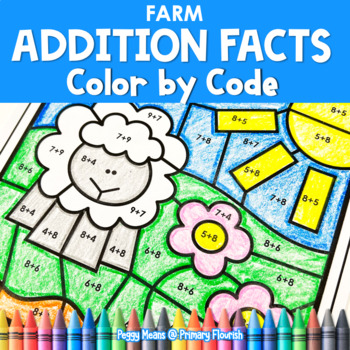 Farm | Color-by-Code Addition | Color by Number