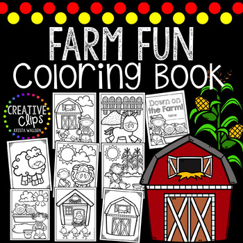 Farm Coloring Book {Made by Creative Clips Clipart}
