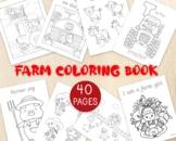 Farm Coloring Pages, 40 Coloring Sheets, Farm Animals, Far