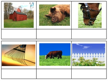 Farm Communities sort Social Studies ESL beginning sounds first letter