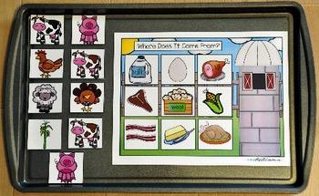 Farm Cookie Sheet Activities 2