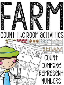 Farm Count The Room (3 Differentiated Activities)