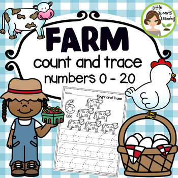 Farm Count and Trace  - Numbers 1-20