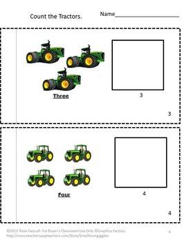 Farm Tractors Preschool Math Special Education Math Kindergarten Math
