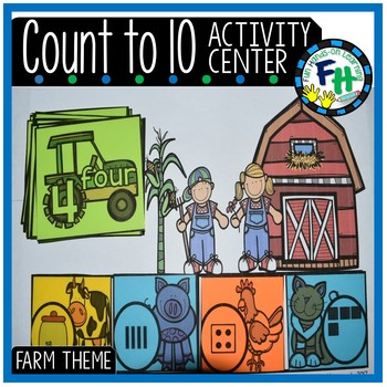 Count to 10 Activity Center {Farm Theme}