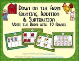 Farm Counting, Addition & Subtraction with Ten Frames {Subitizing}