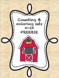 Farm Counting & Coloring Sets FREEBIE