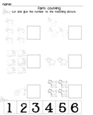 Farm Counting Worksheet