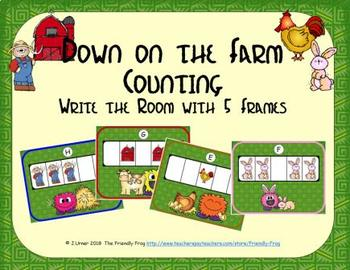 Farm Counting with 5 Frames {Subitizing}